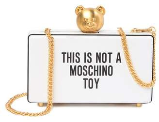 Moschino Printed Push-Lock Leather Clutch