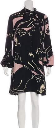Valentino 2017 Panther Print Dress