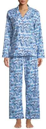 Derek Rose Ledbury Scenic-Print Cotton Pajama Set