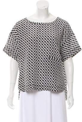 Diane von Furstenberg Short Sleeve Scoop Neck Top