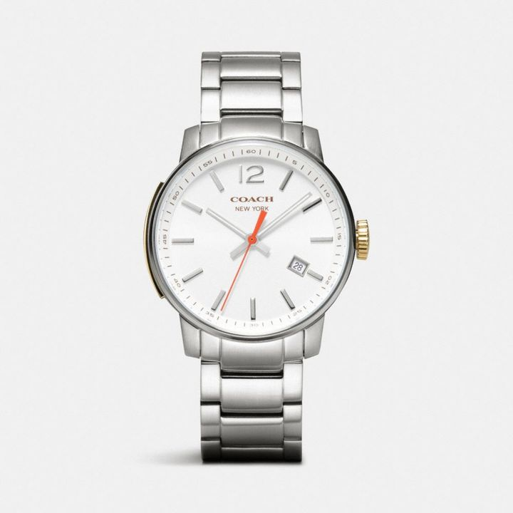 Coach Bleecker Stainless Steel Three Hand Bracelet Watch