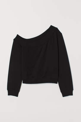 H&M One-shoulder Top - Black