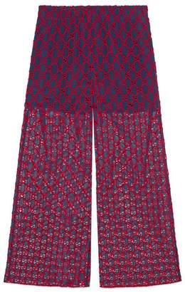 Gucci GG macramé wide-leg pant
