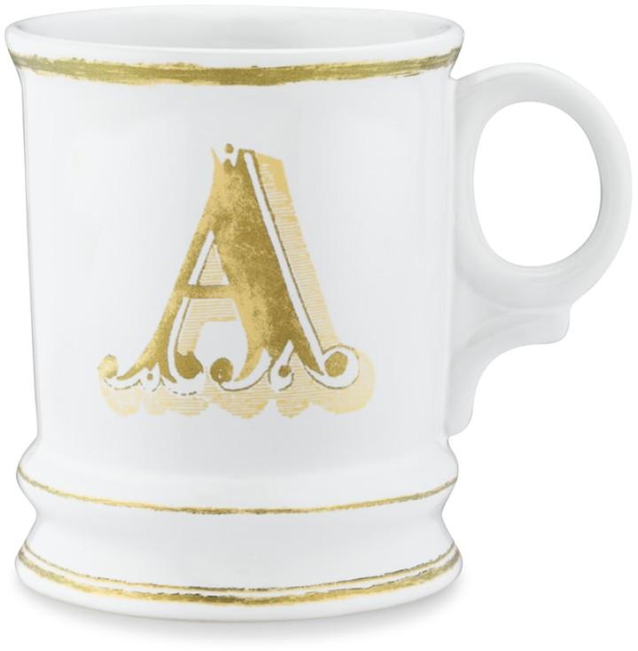 Williams-Sonoma Gold Monogram Mugs