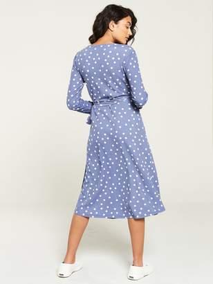 Very Wrap Jersey Midi Dress - Blue