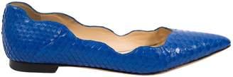 Alexandre Birman Blue Python Flats