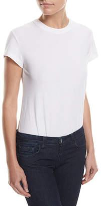 Alexander Wang High-Twist Short-Sleeve Cotton Bodysuit