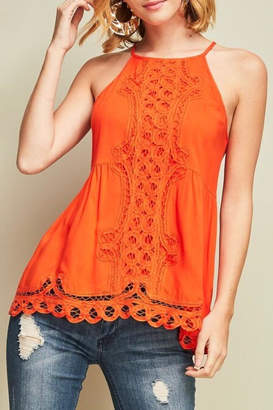 LuLu*s LuLu's Boutique Crochet Detail Tank