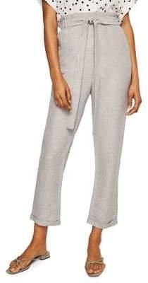 MANGO Self-Tie Paper Trousers