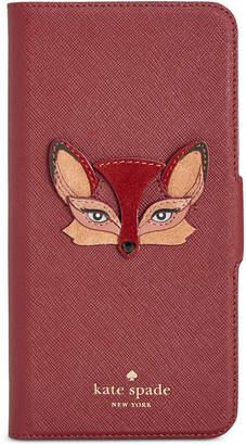 Kate Spade Fox-Applique iPhone 8 Plus Folio Case