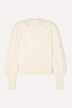 Bite Studios BITE Studios - Cable-knit Organic Cotton-blend Sweater - White