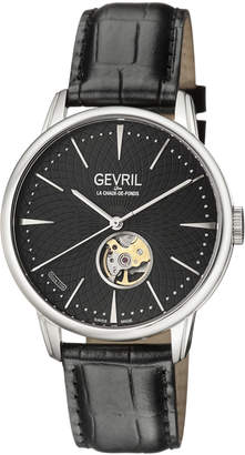 Mulberry Gevril 9600 Silver-Tone & Black Watch