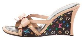 Louis Vuitton Multicolore Monogram Slide Wedges