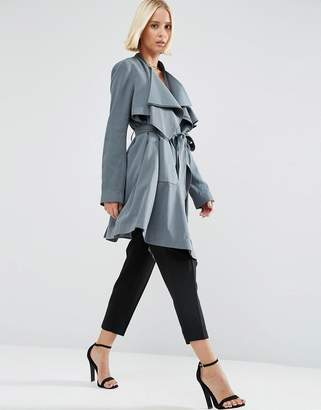 ASOS Waterfall Trench $103 thestylecure.com