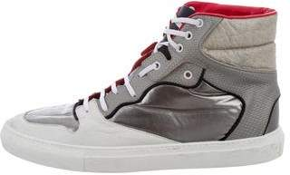 Balenciaga Round-Toe High-Top Sneakers