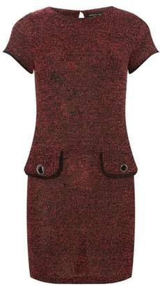 Dorothy Perkins Womens Red Jersey Boucle Shift Dress