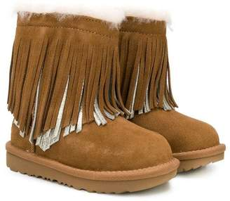 UGG fringed shearling boots