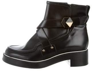 Nicholas Kirkwood Leather Round-Toe Ankle Boots