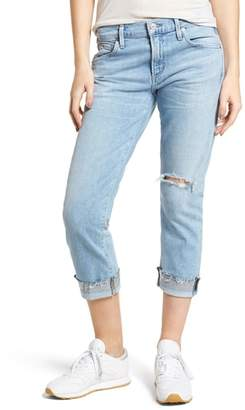 Citizens of Humanity Emerson Ripped Crop Slim Boyfriend Jeans