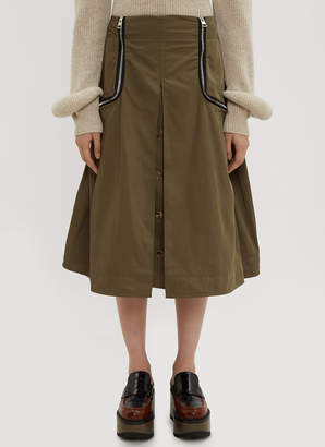 J.W.Anderson Safari Two Way Zipper Skirt in Khaki