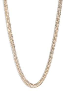 Something Navy Three-Row Choker Necklace
