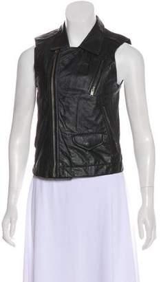 Rick Owens Leather Moto Vest