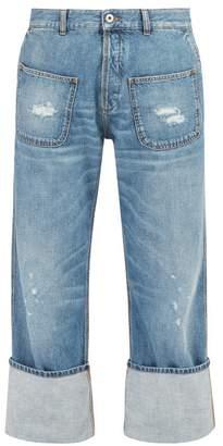 Loewe X Charles Rennie Mackintosh Distressed Jeans - Mens - Blue
