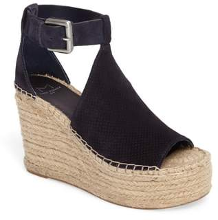 Marc Fisher Annie Perforated Espadrille Platform Wedge