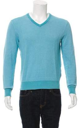 Michael Kors Rib Knit V-Neck Sweater
