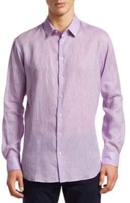 Giorgio Armani Linen Long Sleeve Shirt