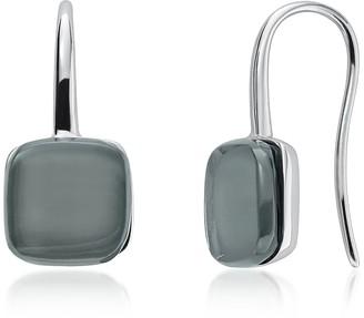 Skagen Sea Glass Silver-Tone Drop Earrings