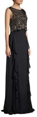Basix II Black Label Embellished Popover Gown