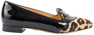 Charlotte Olympia Black Patent leather Flats