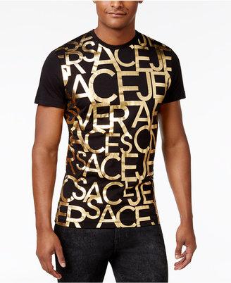 Versace Men's Graphic Print Cotton T-Shirt $150 thestylecure.com
