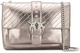 Pinko Big Love Metallic Quilted shoulder bag