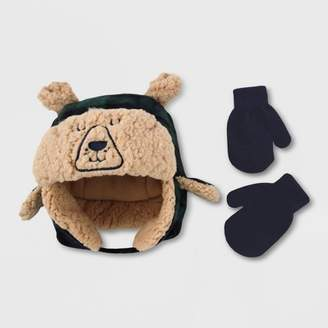 Cat & Jack Baby Boys' Hat And Glove Set Blissful Moss 2T-5T