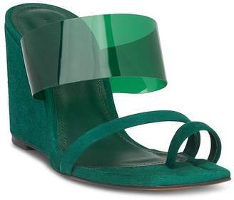 Whistles Women's Limited Thayer Perspex Wedge Heel Sandals