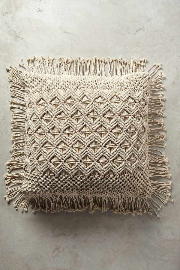Anthropologie Anthropologie Fringed Diendra Floor Pillow