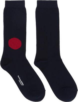 Blue Blue Japan Navy Japanese Flag Socks
