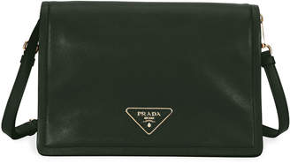 Prada Glace Calf Soft Messenger Crossbody Bag