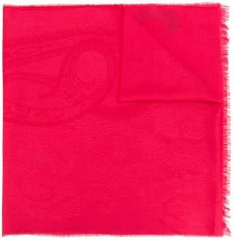 Etro fringed paisley scarf
