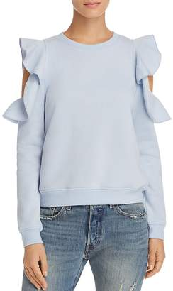 Rebecca Minkoff Gracie Ruffle Cold Shoulder Sweatshirt - 100% Exclusive