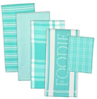 DII Assorted Decorative Kitchen Dish Towels & Dish Cloth Foodie Set
