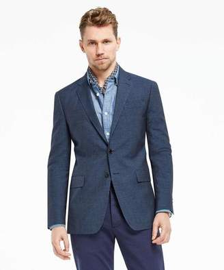 Todd Snyder White Label Microstripe Unconstructed Linen Sport Coat in Navy