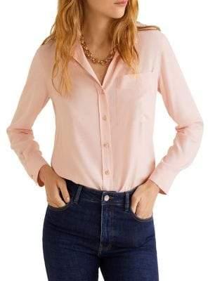 MANGO Classic Long-Sleeve Button-Down Shirt