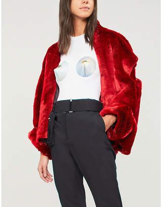 Di Lara Dilara Findikoglu Eyecone Bra cropped cotton-jersey T-shirt