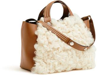 Tory Burch RORY SHEARLING MINI TOTE