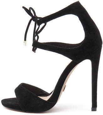 Wanted Pompano Black Sandals Womens Shoes Casual Heeled Sandals