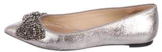 Tory Burch Leather Pointed-Toe Flats