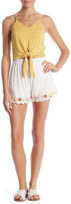 Romeo & Juliet Couture Scalloped Edge Woven Shorts